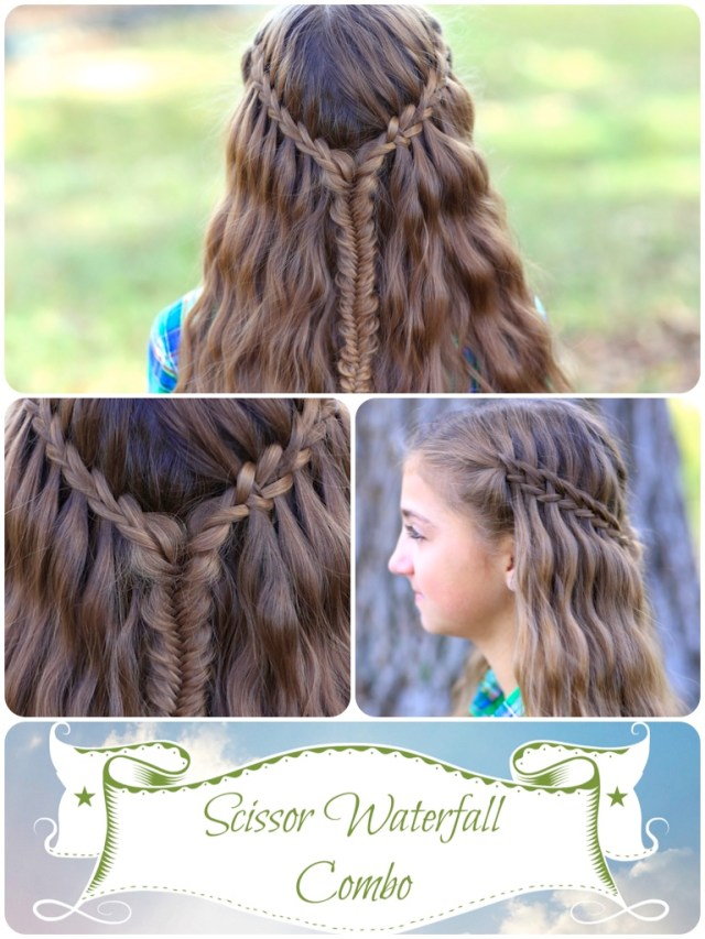 scissor waterfall combo | latest hairstyles | cute girls