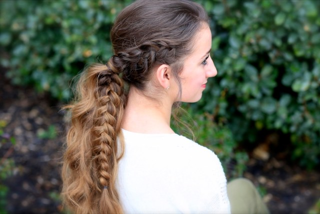 the viking braid ponytail | hairstyles for sports | cute