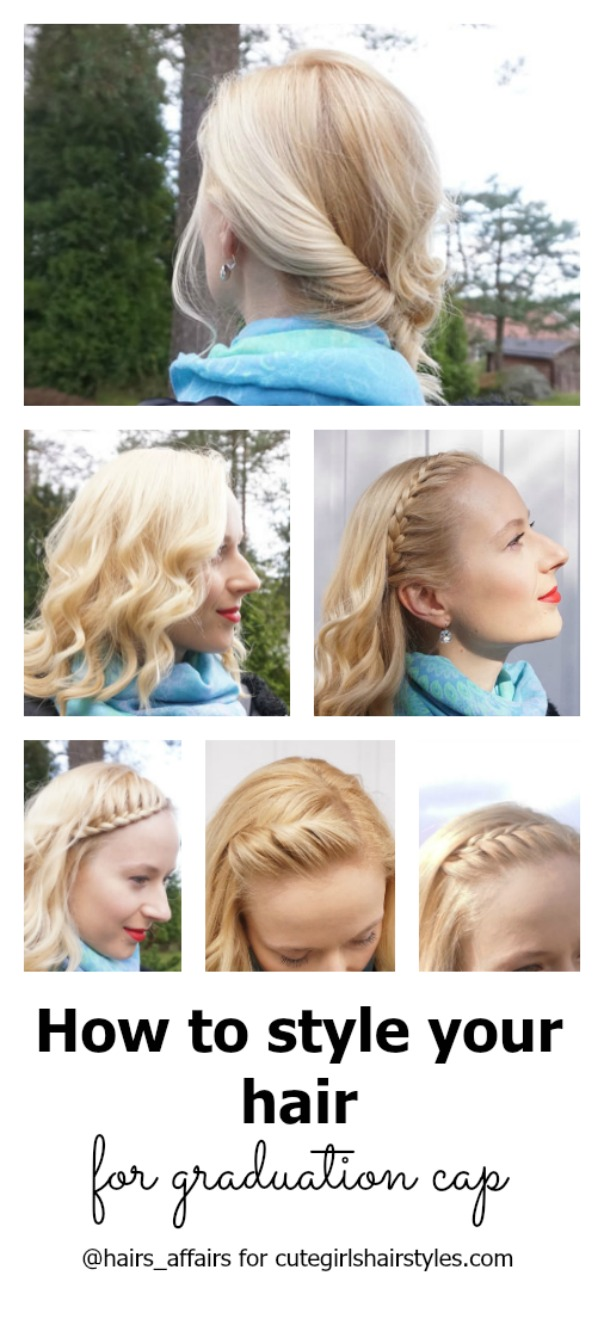 tips for styling your hair with a graduation cap | cute