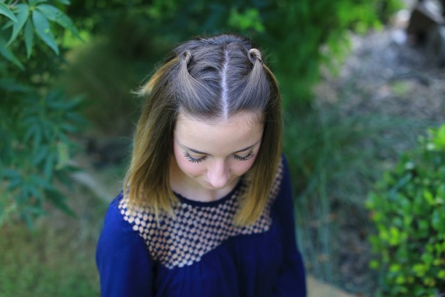 double knot pullback | cute girls hairstyles