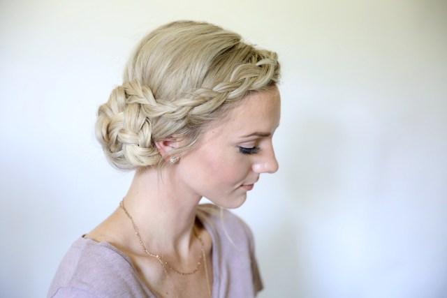 easy braided side bun | cute girls hairstyles