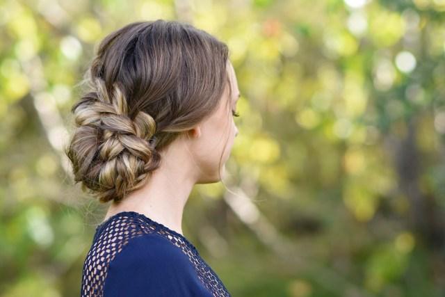 french braid updo | cute girls hairstyles