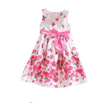 Cute New Baby Girl Kid Sleeveless Party Dress One Piece Tutu Skirt Sundress 1-6T