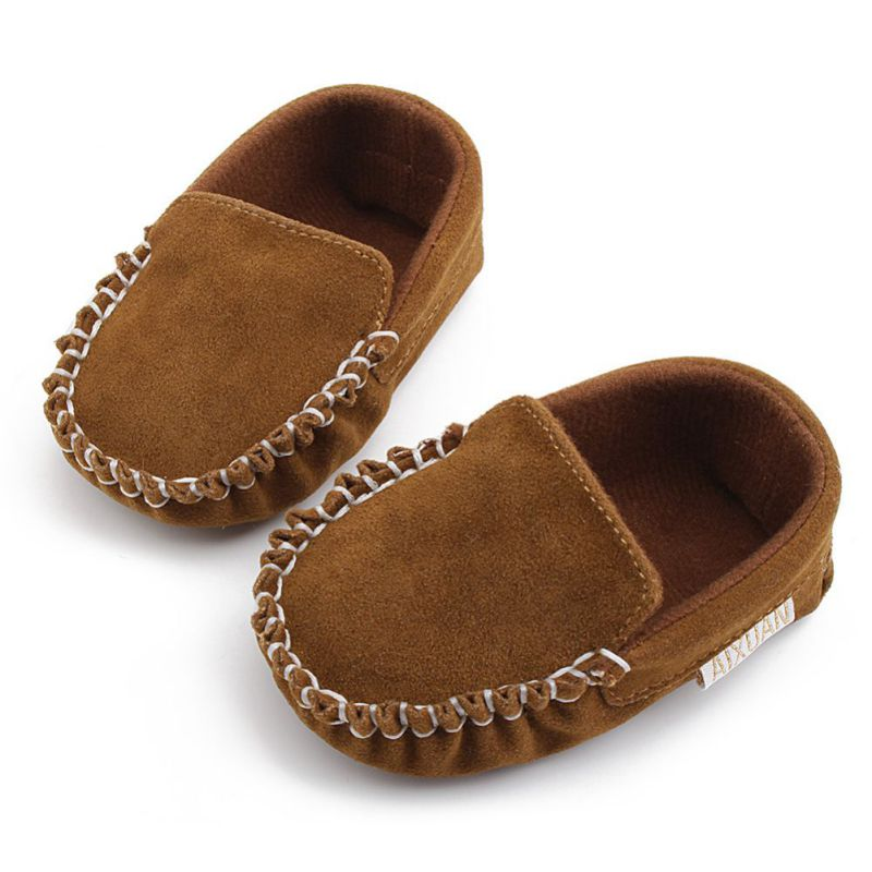 Newborn Baby Shoes Kids Baby Crib Shoes Leather Toddler Boys Girls First Walkers