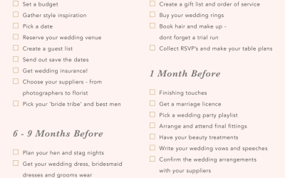 Wedding Checklist UK: An ultimate guide to planning a wedding