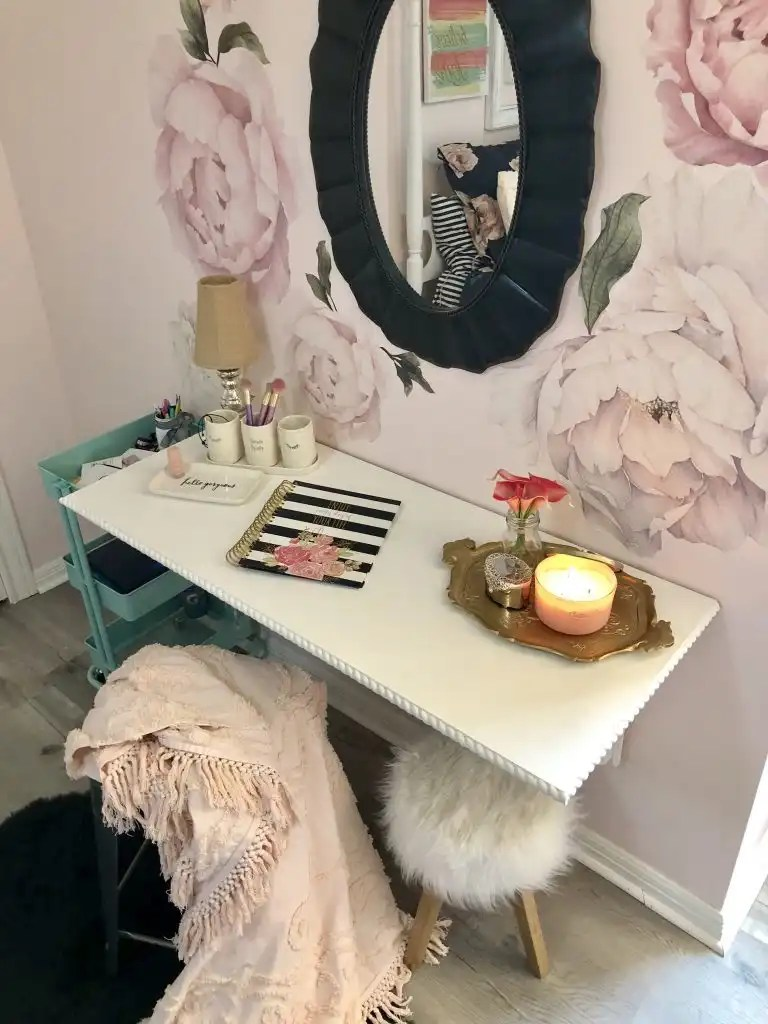 Do it yourself corbel vanity and writing desk