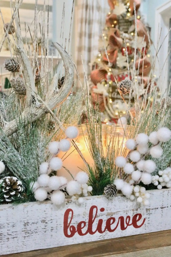 Trim floral stems around the candles to prevent flames from reaching stems.