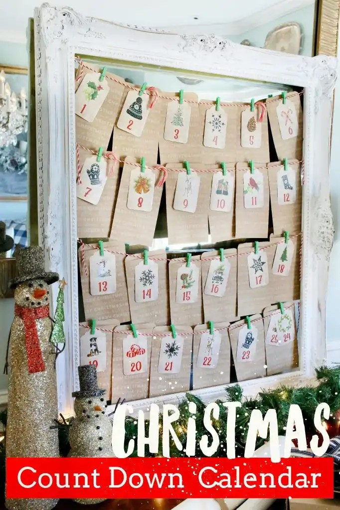 pinterest diy christmas calendar
