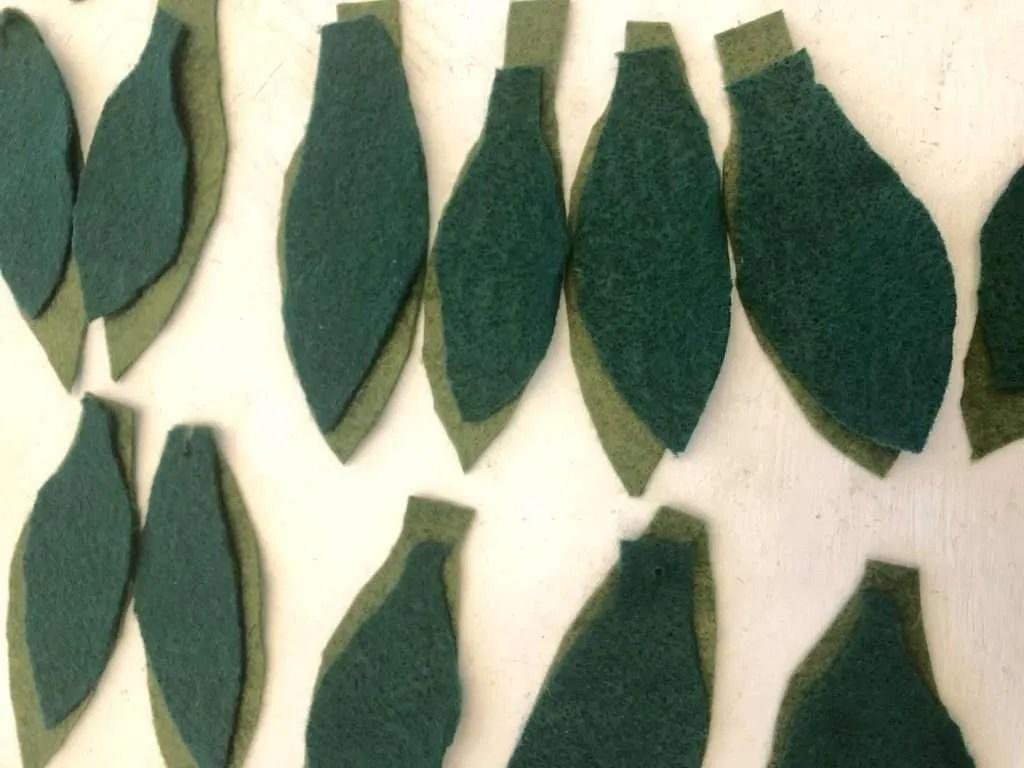 felt mistletoe garland