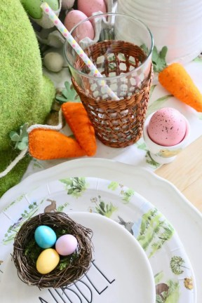 kid friendly tablescape for easter