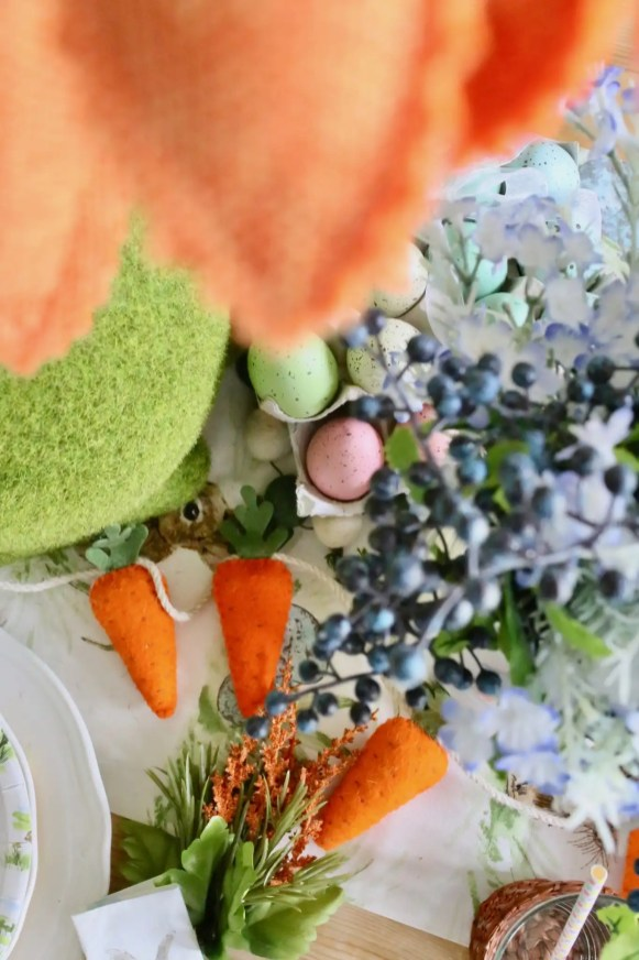 set a colorful easter tablescape