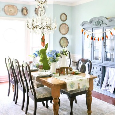 easter styled dining room