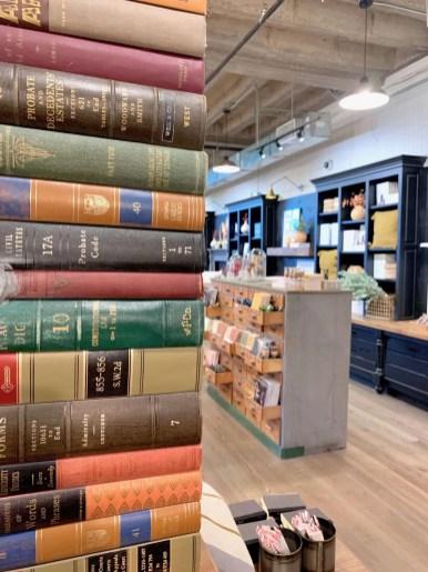 detail of book display