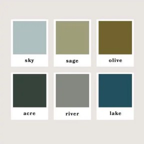 Cool colors on fall color inspiration mood board
