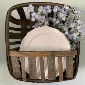 white dishes in tobacco basket
