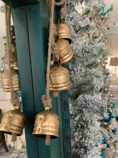 Hang bells and garlands.