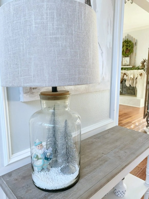 diy snow globe lamp