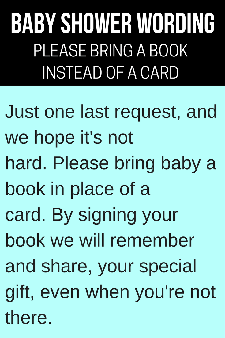 Bring Book Instead Gifts