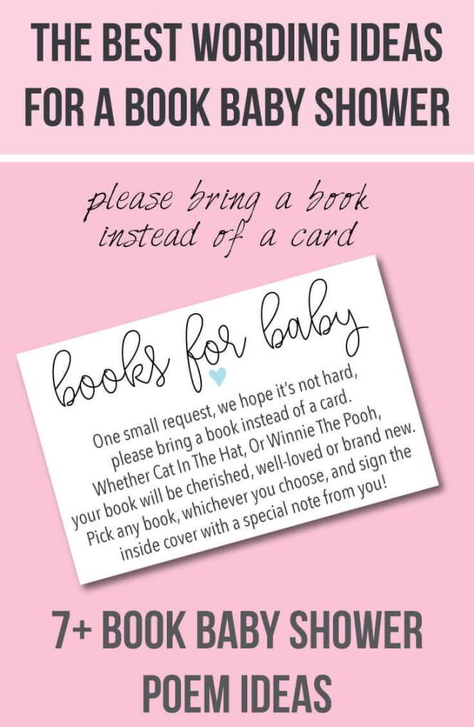 A Link Baby Shower Bring Book Instead Of Card Request Insert Printable Diy