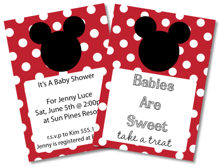 FREE Mickey Mouse Baby Shower Invitations Amp Clipart Minnie Mouse Too