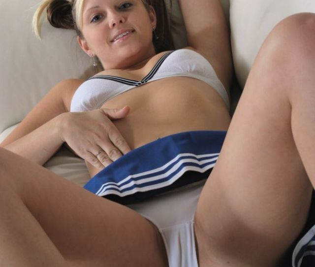 Cotton White Panty Teen Upskirt
