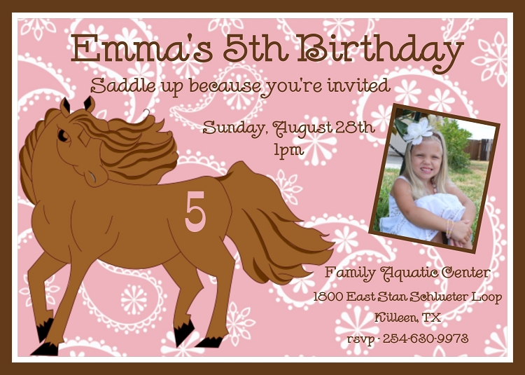 equestrian horse birthday party