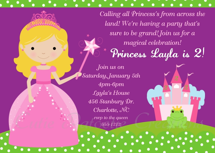 royal princess birthday party