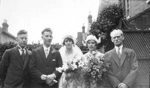 Alec and Cissie's wedding, 1930