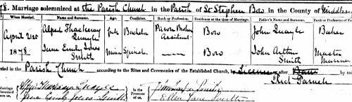 Jane Emily Jones Smith marriage 1878 crop
