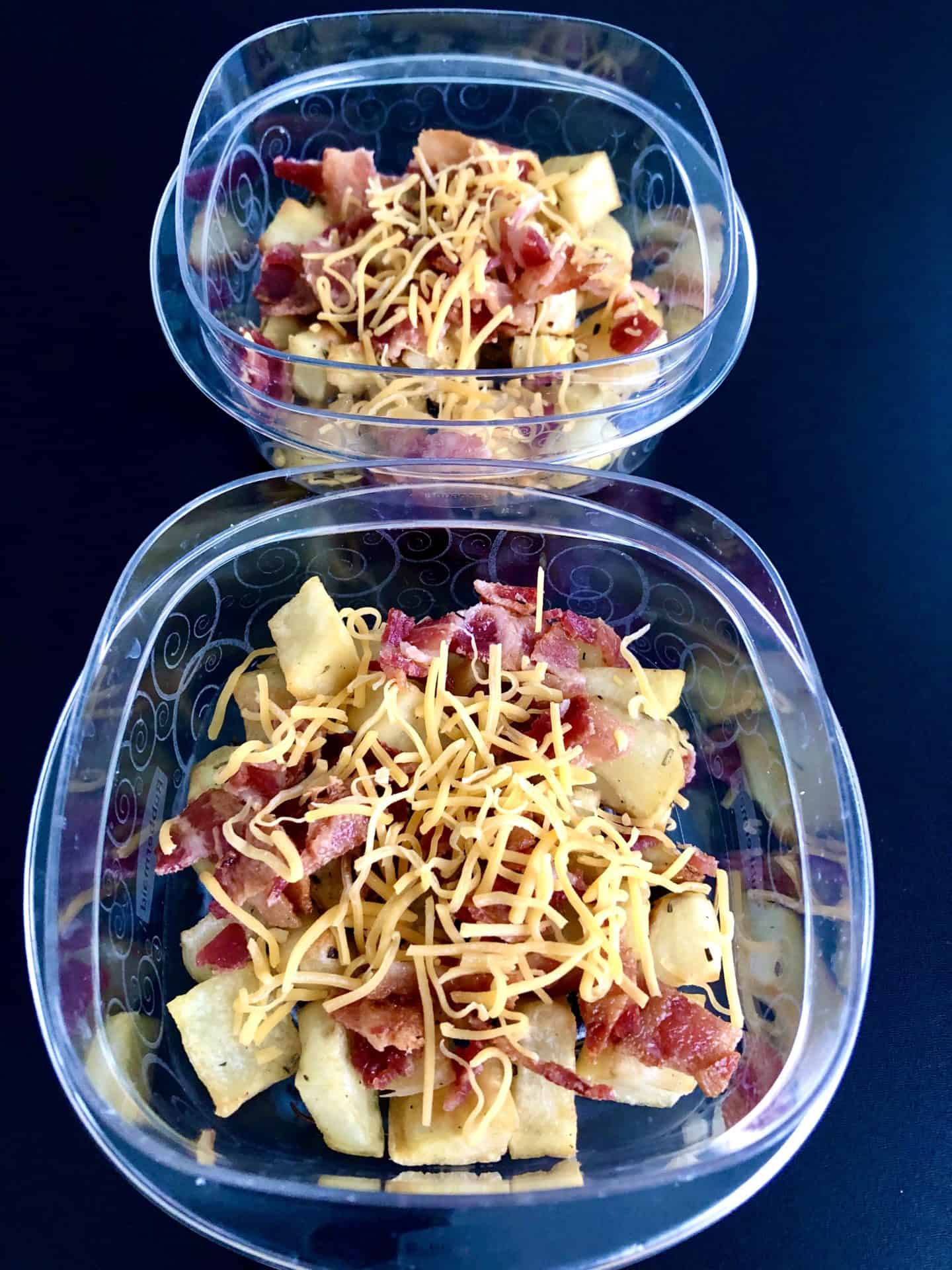 breakfast bowls in Tupperware containers
