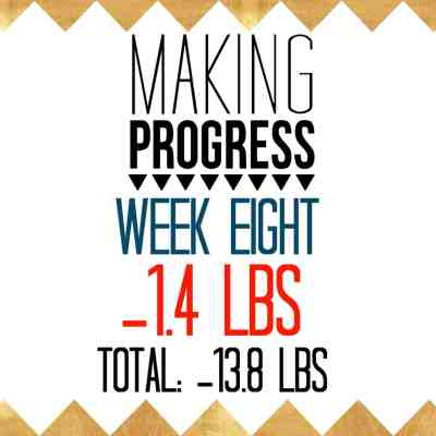 Week 8 Recap: -1.4 pounds