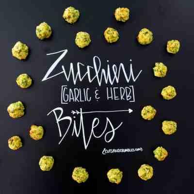 Zucchini Garlic and Herb Bites