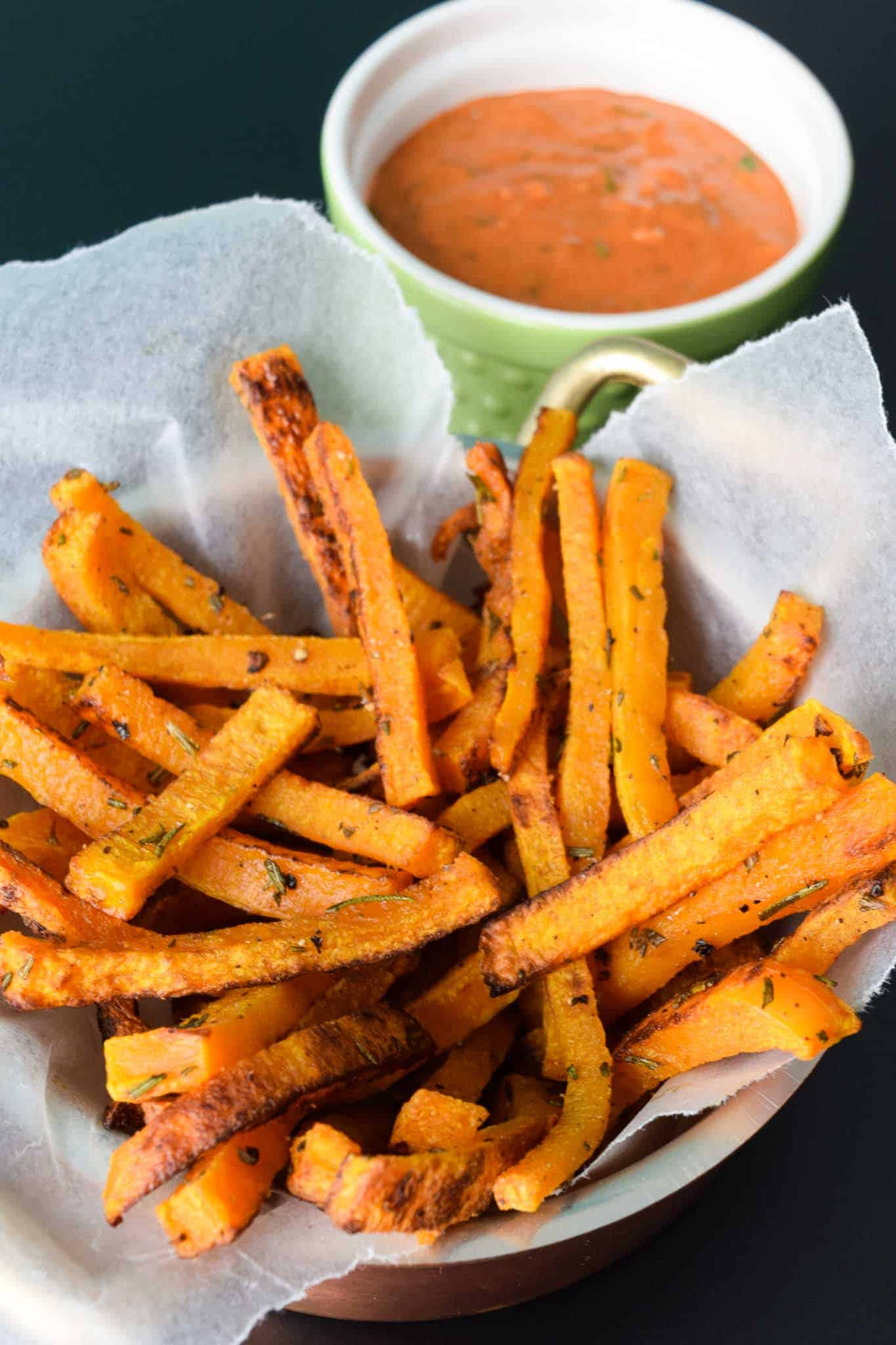 Butternut Squash Fries with Magic Sauce