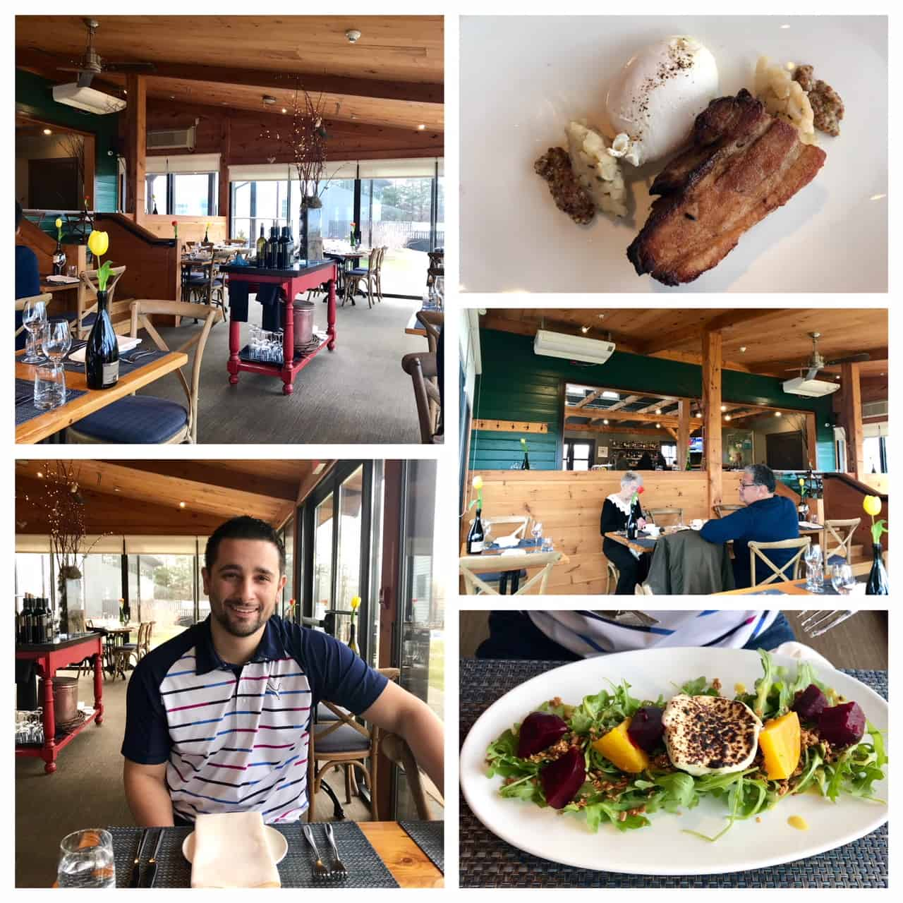 Collage of images from Ravine Vineyard Restaurant