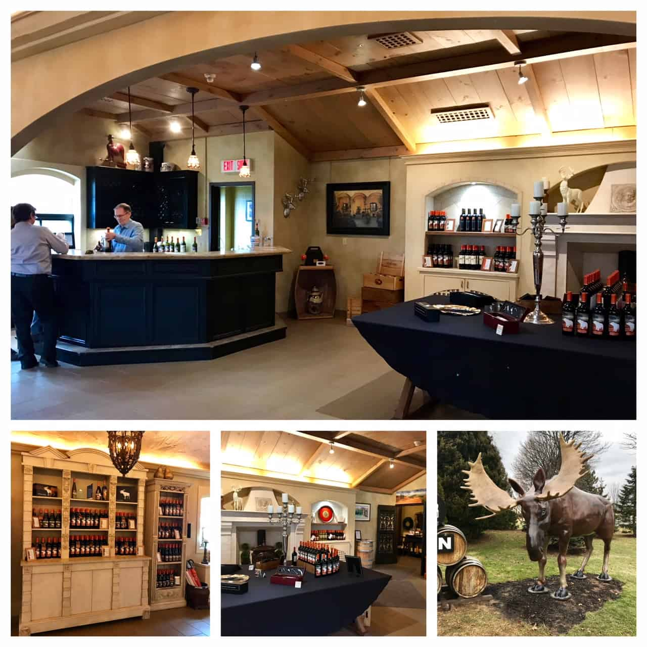 Collage of images from Forein Affair Winery