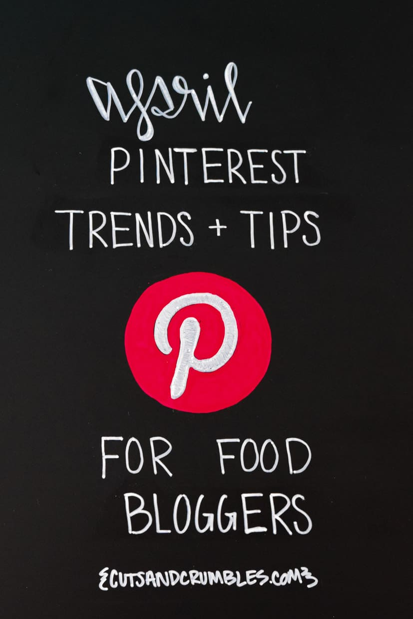April Pinterest Trends and Tips for Food Bloggers Writing on Black Chalkboard