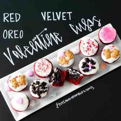 Red Velvet Oreo Valentine Cups