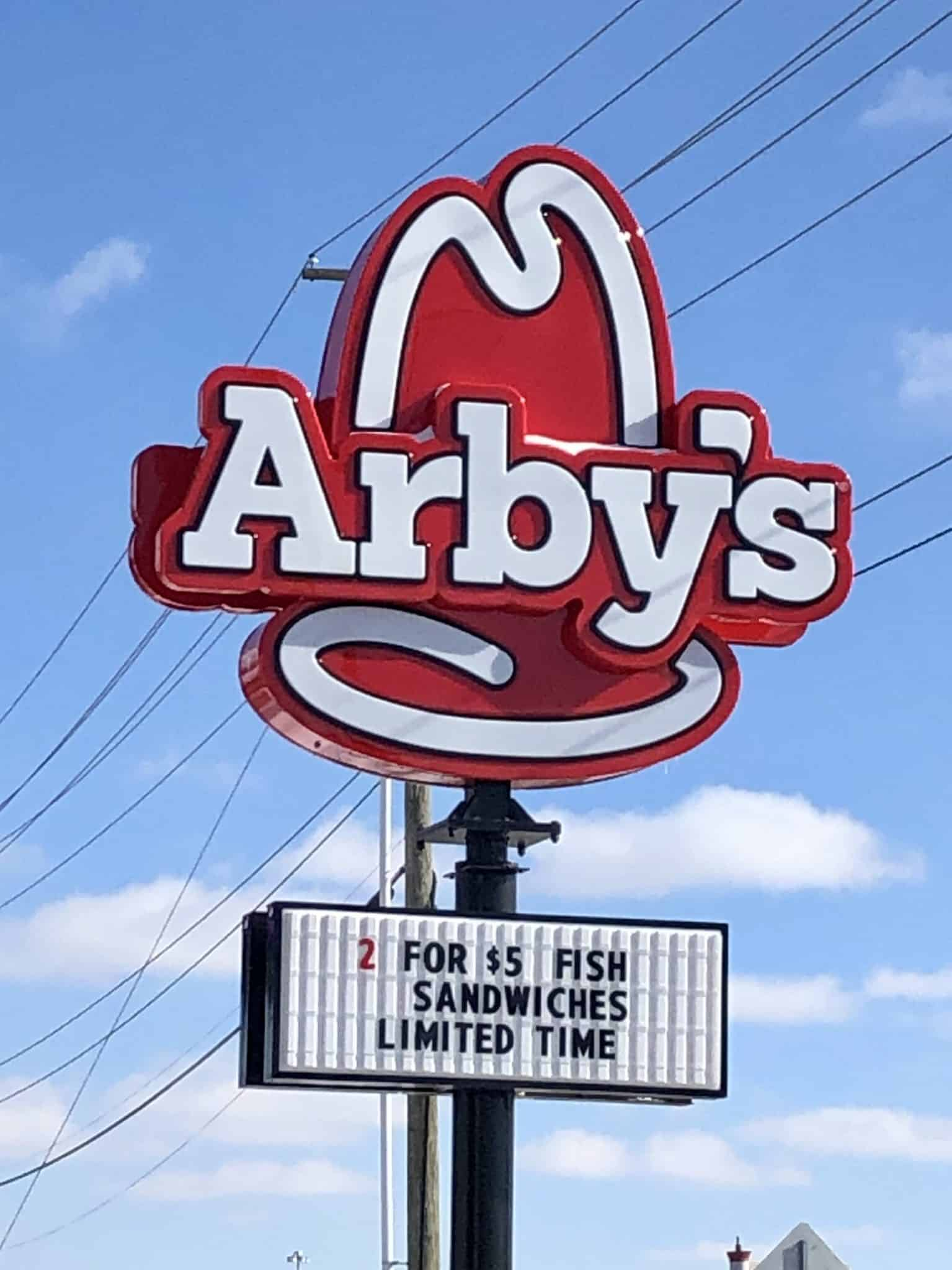 Arby's sign
