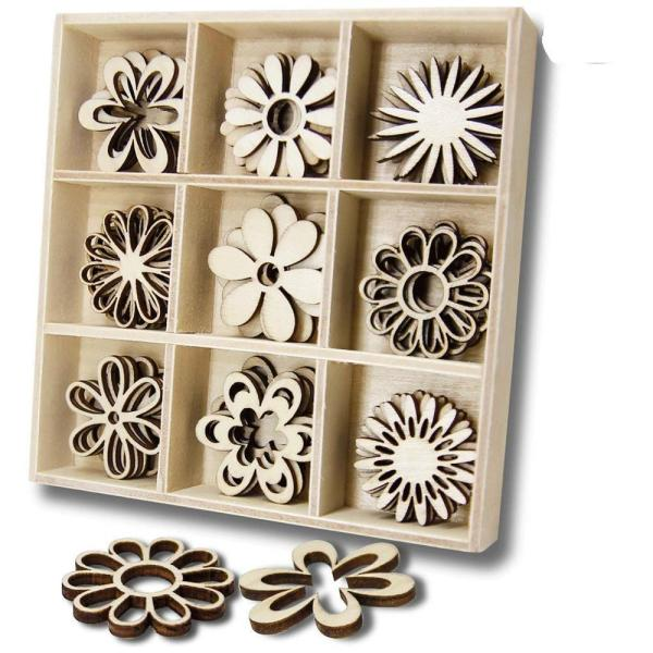 Laser-cutting-wooden-flower-craft