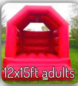 12X15FT RED CASTLE WITH ROOF