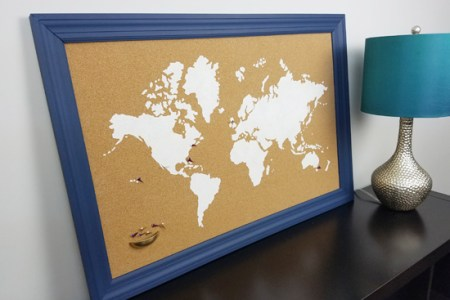 World Map Corkboard In Frame Path Decorations Pictures Full Path - Large framed magnetic world map