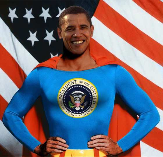 Barak Obama as Superman