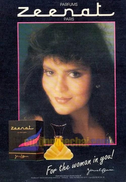 Zeenat Aman perfume ad