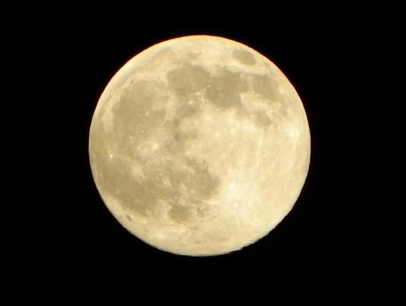 Closeup of the full moon