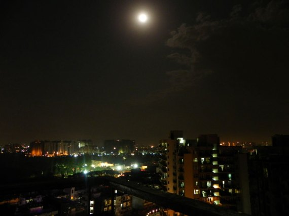 Vaishali, Ghaziabad on a full moon night