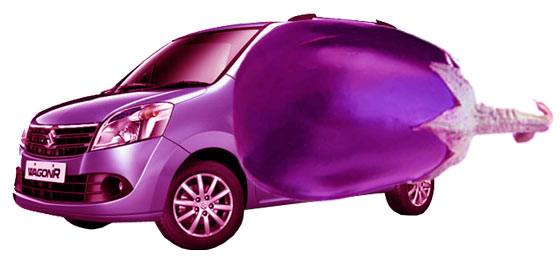 Wagon R - the Brinjal Car