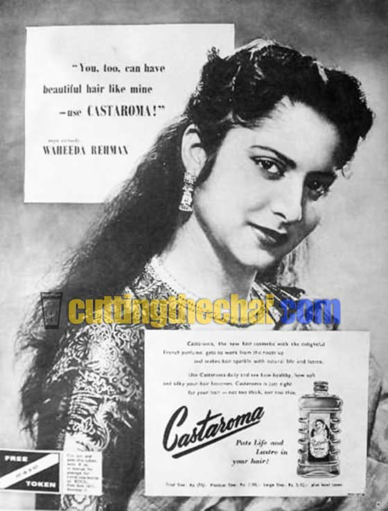 You too can have beautifuk hair like mine - use Castaroma: Waheeda Rehman. Castaroma puts life and lusture to your hair.