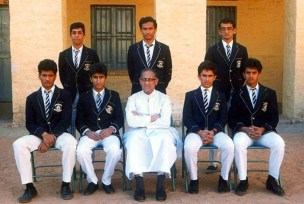With fellow House Captains at St. Joseph's Boys High School, Bangalore