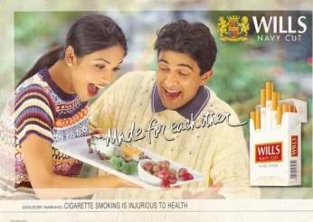 Wills cigarette ad 2001