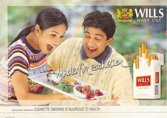 Wills cigarette ad 2001